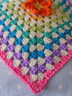 Very pretty crochet granny square blanket!!!