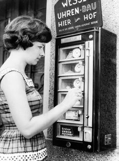If you urgently needed a clock in Germany, just head down to the corner and pick one up. | 15 Weird Vending Machines Of The '60s