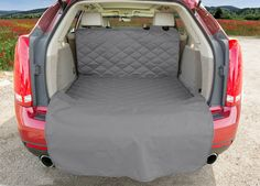 "Large Grey SUV Cargo Liner For Dogs Large Cover is 52"" x 82"""