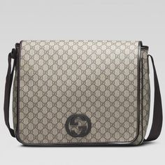 89b821cf8 Gucci Large Messenger Bag With Interlocking G 222292 Sale Large Messenger  Bags, Gucci Messenger Bags