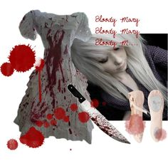 """Bloody Mary is coming"" by siamcatx on Polyvore. Concratiolations on a 11th place in the Halloween."