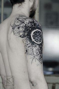 The best simple geometric tattoo Die Besten einfaches geometrisches Tattoo The best simple geometric tattoo - Geometric Sleeve Tattoo, Geometric Tattoo Design, Geometric Tattoos Men, Geometric Tattoo Shoulder, Geometric Tattoo Simple, Hexagon Tattoo, Sketch Style Tattoos, Tattoo Style, Sketch Tattoo