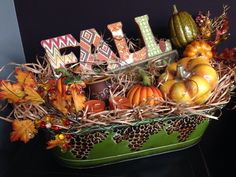 Fall basket for gift