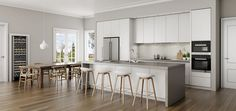 Contemporary kitchen design for a country homestead #DanKitchensAus
