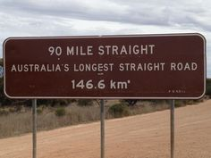 Longest Straight Road in Australia    - Eyre Highway, Western Australia  #Eyre #WesternAustralia