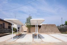 Gallery of Soil House / Life Style Koubou - 1 Fukushima, Hopkins Architects, Japan Earthquake, Sliding Screen Doors, Temporary Housing, Japan Architecture, Storey Homes, Building Structure, Building A New Home