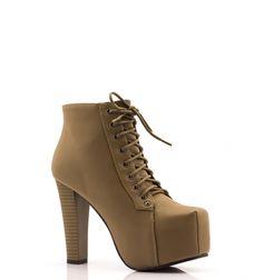 Lity Khaki Lovely Khaki Boots - born2be.pl