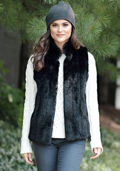 Black Mink Signature Faux Fur Vest - Donna Salyers' Fabulous Furs #fauxfur #FabulousFurs #DonnaSalyers #crueltyfree #fallfashion #winterfashion #ifakeit #fakefur #furcoat #furvest #faux #black #donnaspicks #winter2016