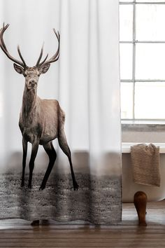 Find This Pin And More On Hu0026M HOME. Deer Shower Curtain ...