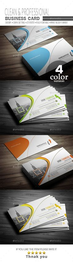 #Business #Card - Corporate Business Cards Download here:  https://graphicriver.net/item/business-card/20333489?ref=alena994