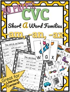 Help your students practice reading and writing CVC words with this Short A Family resource!  No prep needed!  Simply print and teach.    This set includes CVC puzzles that your students can cut out and match to help them build understanding of initial, medial, and final sounds. #wordfamilies #cvc Cvc Word Families, Phonics Lessons, Family Set, Cvc Words, Word Work, Curriculum, Puzzles, Prepping, Initials