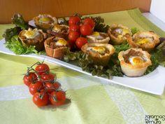 7gramas de ternura: Taças Folhadas de Cogumelo, Alheira e Ovo