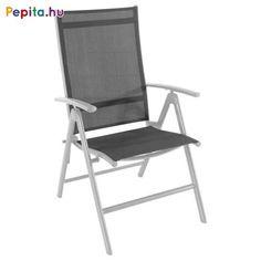 Kellemes üldögélést biztosít ez a 7 pozícióba állítható, dönthető szék. A sötétszürke 2x1-es textilene szövettel készült, meghosszabbított háttámla biztosítja a megfelelő támasztást és a kényelmes ülést.    Jellemzők:  - Súly: 3,8kg  - Méretek: 67 x 58 x 103cm Outdoor Chairs, Outdoor Furniture, Outdoor Decor, Folding Chair, Home Decor, Homemade Home Decor, Garden Chairs, Folding Stool, Decoration Home