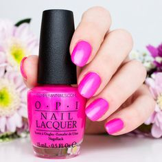OPI Brights 2015 – Hotter than You Pink (re-release from OPI Neon 2014 Collection)