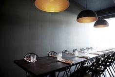 Restaurant Kulis a minimalist house located inNew York, designed bySpace Copenhagen.