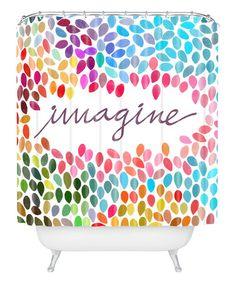 Love this 'Imagine' Shower Curtain on #zulily! #zulilyfinds