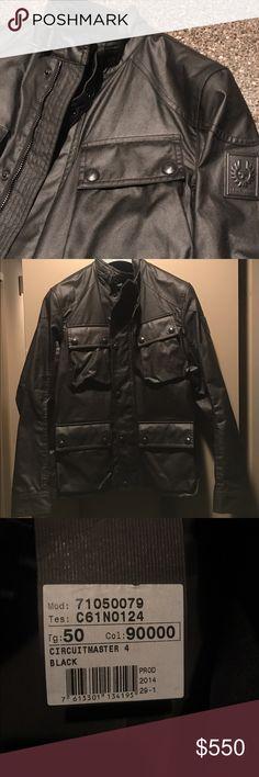 Belstaff circuit master Belstaff waxed cotton Circuitmaster jacket. Stand  collar. Throat-latch buckle 392579b2471