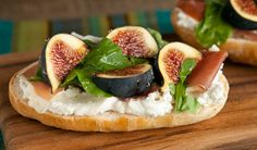 Open-Face Prosciutto and Fig Sandwich - In the Kitchen with Stefano Faita