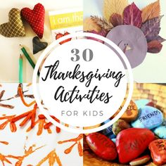 30 Thanksgiving Activities for Kids