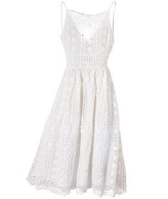 This flattering beauty is so romantic, you'll need a picnic to go with it.
