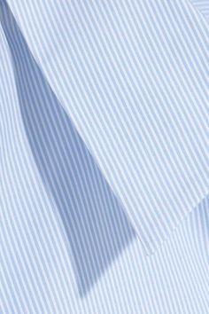 MM6 Maison Margiela - Tie-back Striped Cotton-poplin Shirt - Sky blue - IT44