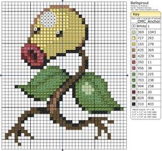 Birdie Stitching Pokemon Pattern - 69 Bellsprout