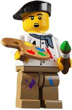 Lego Artist minifig (orange). Love him!