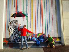 Catnap mural by Michael Summers, Carlsbad Village