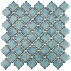 Merola Tile Tangier Marine 13 in. x 13-3/8 in. x 5 mm Porcelain Mosaic Floor and Wall Tile-FKOLTR33 - The Home Depot