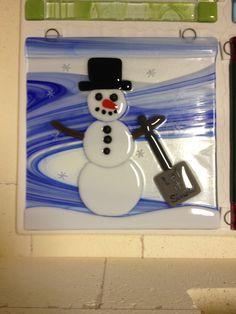 Fused snowman panel.