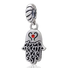 Hamsa Hamesh Hand Authentic 925 Sterling Silver Bead Fits Pandora Charms *** You can find out more details at the link of the image.