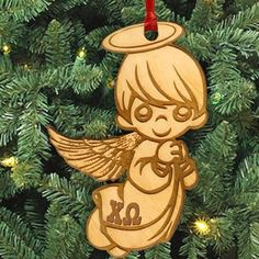 Gamma Sigma Sigma laser-engraved angel ornament with Greek letters. Ornament is Natural Basswood and is approximately, inches. Rush service is available for of the total price. This service can be selected during the checkout process. Sigma Lambda Gamma, Gamma Phi Beta, Kappa Alpha Theta, Alpha Chi Omega, Delta Sorority, Alpha Delta, Phi Mu, Delta Gamma, Sorority Life