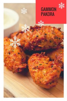 Ollie Moore presents a novel and delicious way to use up leftover gammon or ham hock Christmas Nibbles, Christmas Canapes, Gammon Recipes, Pakora Recipes, Great British Chefs, Indian Food Recipes, Ethnic Recipes, Food Waste, Garam Masala