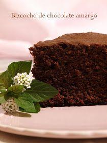 Bocados dulces y salados: BIZCOCHO DE CHOCOLATE AMARGO