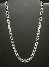 """925 STERLING SILVER HEAVY 20"""" 7.7mm NECKLACE 35g ANCHOR LINK"""