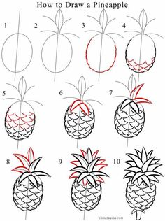 Easy pineapple drawing how to draw a pineapple step by step kawaii pineapple easy drawings . Pineapple Drawing, Pineapple Art, Pineapple Painting, Pineapple Sketch, Kawaii Pineapple, Pineapple Design, Doodle Drawings, Doodle Art, Art Tutorials