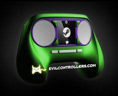 ValveSteamController-Green #Steamcontroller #steammachine #steamOS #customSteamcontroller #moddedSteamcontroller #customcontrollers #moddedcontrollers