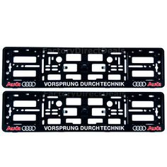 2 x AUDI VORSPRUNG DURCH TECHNIK NUMBER PLATE SURROUNDS HOLDER FRAME FOR CARS  sc 1 st  Pinterest & 2x-BMW-M-Power-Silver-Number-Plate-Surrounds-Holder-Frame-Pair-For ...
