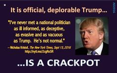 Donald Trump is an insane narcissist that CANNOT be allowed to be anywhere near the White House or nuclear codes.  #VoteBlueAlways #ClintonKaine2016
