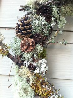 CUSTOM LISTING for PNW NATURAL FOREST WREATH NOTE: This wreath is made-to order once purchased. Photo No. 1 shows an example of a finished 24 Wreath. Due to demand, it make up to 14 days to be made and then shipped. Please contact me with any shipping questions.  Wreath will be covered in Branches, Moss, Lichen, Twigs & Pine Cones… perfect for your Spring or Fall Seasonal or Rustic Woodland Decor! This wreath is an original, one of a kind item!  All materials were collected here in the…