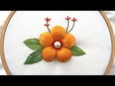 Hand Embroidery Tutorial Step by Step Hand Embroidery Patterns Flowers, Hand Embroidery Projects, Hand Embroidery Flowers, Hand Embroidery Tutorial, Hand Embroidery Stitches, Embroidery For Beginners, Crewel Embroidery, Hand Embroidery Designs, Indian Embroidery