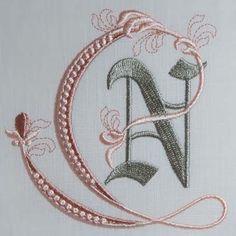 Fleur de Lis Alphabet- N