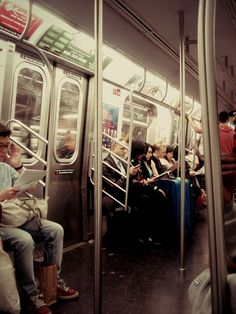 How typical is this train scene? Certainly not rush hour, as everyone is seated!