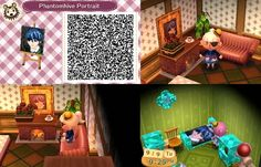 Ciel Phantomhive Design for Animal Crossing New Leaf (the bed was an accident) by Kadence Clark.  acnl qr code black butler