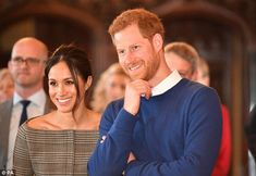 Meghan also made the daring choice of an off-the-shoulder top in Prince Of Wales check for...
