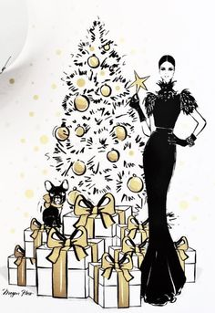 Merry Christmas!⚜️Megan Hess  Be Inspirational❥ Mz. Manerz: Being well dressed is a beautiful form of confidence, happiness & politeness