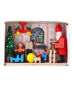 This German Matchbox Miniature Santa & Christmas Gifts is perfect! #zulilyfinds