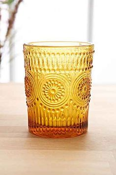 Pressed Glass Tumbler - Urban Outfitters
