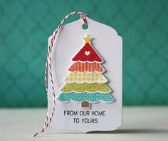 From Our Home Gift Tag by Laura Bassen for Papertrey Ink (October 2013)
