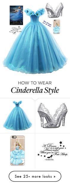 """Cinderella Costume"" by pinkstars6 on Polyvore featuring Dolce&Gabbana, Casetify, disney, cinderella, disneybound and Disneyprincess"